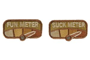 Ecusson/Patch, 'MSM', Suck Meter - Fun Meter  (Multicam)