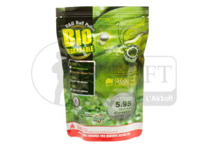 Billes 6mm Biodégradable 0,25g 'G&G' Sachet 2000 Billes